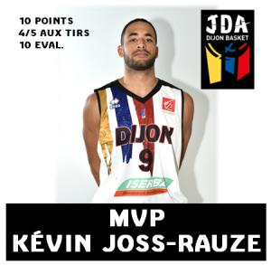 Kévin Josse-Rauze a été le héros de la rencontre face à Gravelines, malgré une vilaine blessure... Source: jdadijon.com